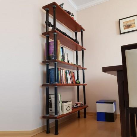 Biblioteca de madera y caño de acero diseños rústicos Rackear
